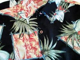 Vintage Hawaiian Shirt Sz XL Silk Blend Caribbean Resort Cruise Wear Hawaii - $21.55
