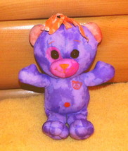 "Doodle Bear Purple Lavender Plush 9"" Jakks Play Along Orange Accents - $4.79"