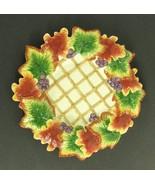 "Autumn Splendor FITZ & FLOYD 10"" Canope Plate Fall Leaves - $19.99"