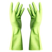 Summer Waterproof Gloves Cleaning Gloves Dish Washing Gloves -Green - $10.33