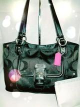 COACH Bag Campbell Belle Sig. Metallic Carryall Subtle Shimmer #26246 ♡B... - $68.94 CAD
