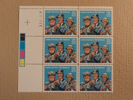 USPS Scott 2420 25c Letter Carriers We Deliver 1989 Mint NH Plate Block ... - $7.07