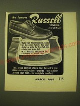 1966 Russell Oneida Moccasin Ad - The famous Russell Oneida Moccasin - $14.99