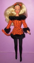 Barbie Halloween Cat Cheetah Leopard Mackie Collector Blonde Doll  OOAK ... - $12.00