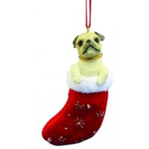 Pug Fawn Santa's Little Pals Ornament - $11.95