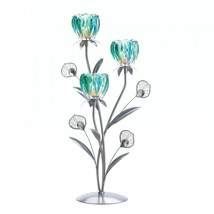 Triple Peacock Bloom Candle Holder - $59.00