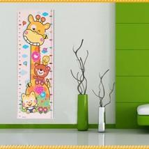 Lovely Children Kids Cartoon Giraffe Growth Height Chart Wall Sticker De... - $1.59