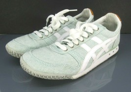 Asics Onitsuka Tiger Blue Green Canvas Logo Sneakers Women's US 8.5 - $40.24 CAD