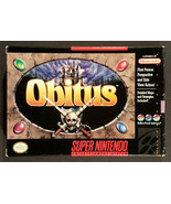 Obitus Super Nintendo SNES Game Complete In Box - $40.50