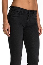 NEW D-ID NEW YORK WOMEN'S PREMIUM SKINNY FIT LOW RISE JEANS DARK GREY 1000-2222