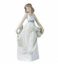"NAO BY LLADRO IN BOX #1343 ""WALKING ON AIR"" GIRL PORCELAIN FIGURINE 10.75"" - $44.54"