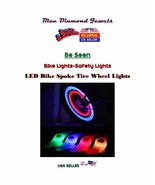 2-Bike LED Cycling Wheel Spoke Wire Safety  LED Lights USA SELLER! - $6.50
