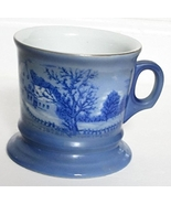 """Currier & Ives """"The Homestead in Winter"""" Blue Coffee Mug Cup - $37.99"""
