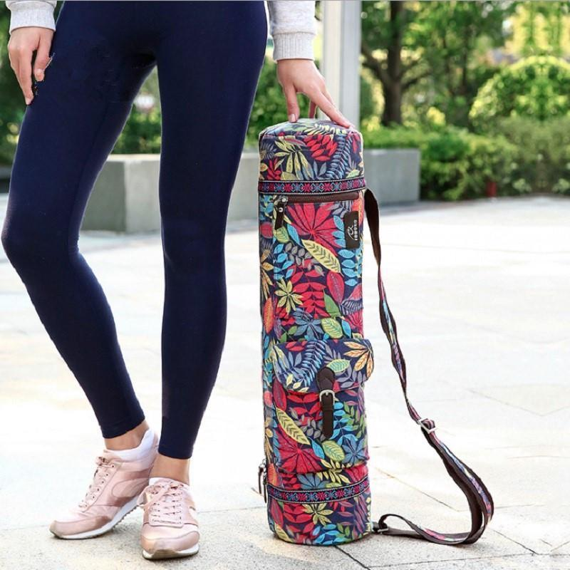Waterproof Canvas Yoga Backpack  Gym Mat Pilates Women Case Bag Carriers