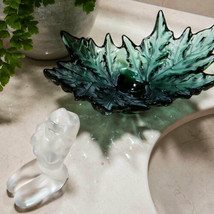 Lalique Crystal, Champs-Elysees Bowl, Intense  Deep Green 10599300 NEW - $3,366.00