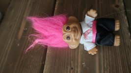 "Russ Berry Troll Doll 4.5"" - GROOM WEARING BLACK TUXEDO - Hot Pink Hair - $5.93"