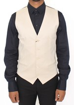 Dolce & Gabbana Beige Cotton Stretch Dress Vest Blazer - $169.05