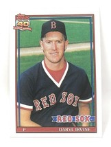 1991 Topps Baseball Card #189 - Daryl Irvine - Boston Red Sox - Pitcher - $0.99