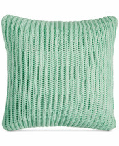 "New Charter Club Throw Deco Knit Throw Pillow 20"" Mint Green Damask Designs - $39.15"