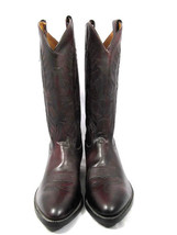 Tony Lama Men's Genuine Leather Burgundy Western Rodeo Cowboy Boots Size... - $89.09