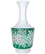 Midcentury Spahr & Co. Silver Overlay German Edelstein Porcelain Vase - £215.23 GBP