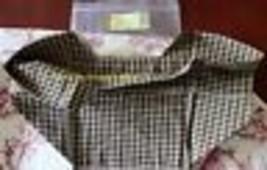 Longaberger Picnic Tote Over Edge Basket Liner Khaki Check Brand New - $11.00