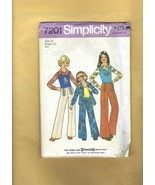 Patterns - SIMPLICITY 7201- Girl's Shirt, Pullover Top, & Pants, Size 12... - $3.00