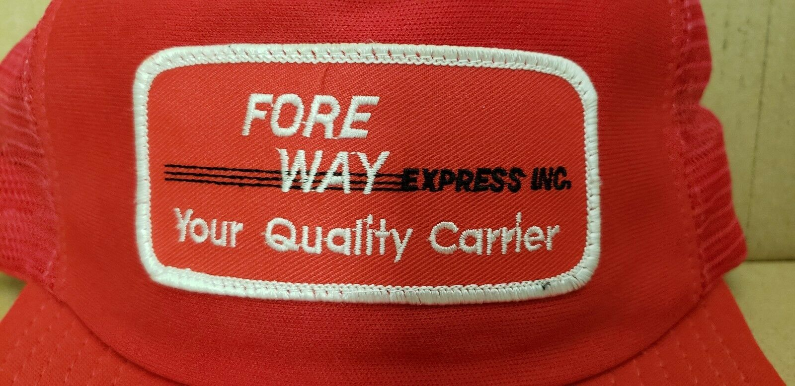 Fore Way Express Inc. Patch Mesh Foam Snapback Trucker Hat (Red) image 2