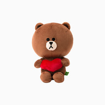 "LINE Friends Character Heart BROWN Sitting Doll 10""(25cm) Stuffed Plush ... - €41,18 EUR"