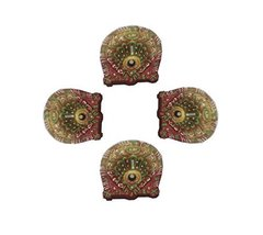 4 x DIY multi shade Diwali diya OIL LAMP Indian traditional festival occ... - $16.83