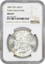 1896 $1 NGC MS64+ (VAM-4 DDO Stars) - Morgan Silver Dollar - $679.00