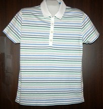 Hugo Boss White Stripes Slim Fit Cotton Polo Men's T-Shirt Xl Good Condition - $38.59