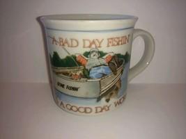 Otagiri Japan Coffee Mug - A Bad Day Fishing Beats A Good Day Working - tea 8 oz - $22.76