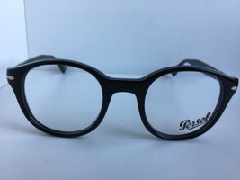 New Persol 3144-V 95 47mm Rx Round Black Eyeglasses Frame Hand Made in Italy - $149.99
