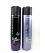 Matrix Total Results So Silver Color Obsessed Shampoo & Conditioner 10.1... - $29.69