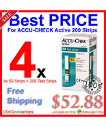 ACCU CHECK Active 200 Test Strips BRAND NEW Stock - $52.88