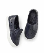 GAP Boys Water Shoes Youth Sz 1 2 Navy Blue White Trim Perforated Rubber... - $24.74
