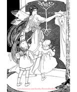 fairy woman girls printable art print clipart png downloadable image vin... - $2.30