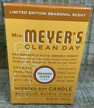 Mrs. Meyer's Limited Edition Candle with Sleeve Orange Clove 4.9 oz image 1