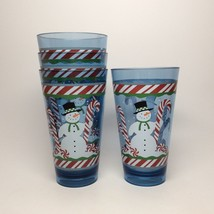 CHRISTMAS SNOWMAN TUMBLERS-A SET OF FOUR! - $16.95