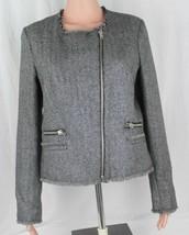MNG Mango casual womens blazer asymmetric full zip silver glitters size M - $22.97