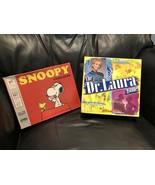 VINTAGE 1974 Milton Bradley Snoopy Board Game,1999 Hasbro Dr Laura Board... - $54.84