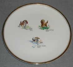 RARE Homer Laughlin RHYTHM PATTERN Stuart Bruce PUPPY PLATE Great Graphi... - $15.83