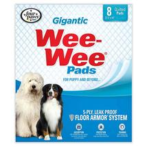 """Four Paws Wee-Wee Pads 8 pack Gigantic White 27.5"""" x 44"""" x 0.1"""" - $7.99"""