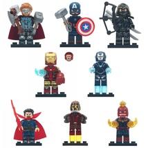New 8pcs Avengers Endgame Hawkeye Thor Iron Man Pepper Star-Lord Lego Minifigure - $14.99