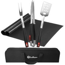HOT BBQ Grill Tool Set, Stainless Steel Grilling Utensils, Spatula, Tong... - £24.62 GBP