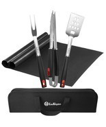 HOT BBQ Grill Tool Set, Stainless Steel Grilling Utensils, Spatula, Tong... - $727,56 MXN
