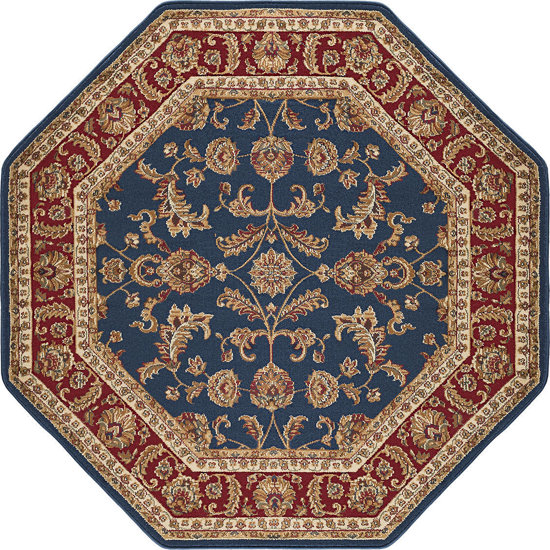 Octagon Traditional Oriental Persian Blue Red Area Rug **FREE SHIPPING**