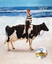 Holstein Cow Beach Ocean Waves Perry Ellis Perfume 1994 AD - $14.99