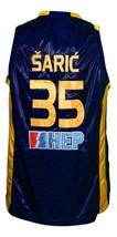 Dario Saric #35 KK Zagreb Croatia Basketball Jersey New Sewn Navy Blue Any Size image 2
